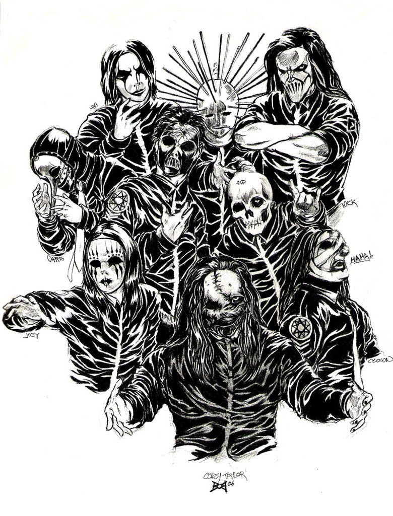heavy metal band coloring pages - photo#41