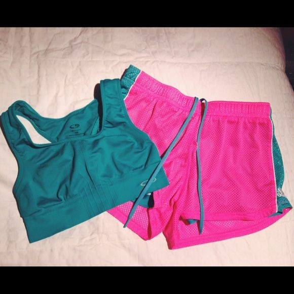 Workout set Like new workout set. Xs top and small shorts.                      ❤️Offers welcome. Sorry, no trades. Adidas Other