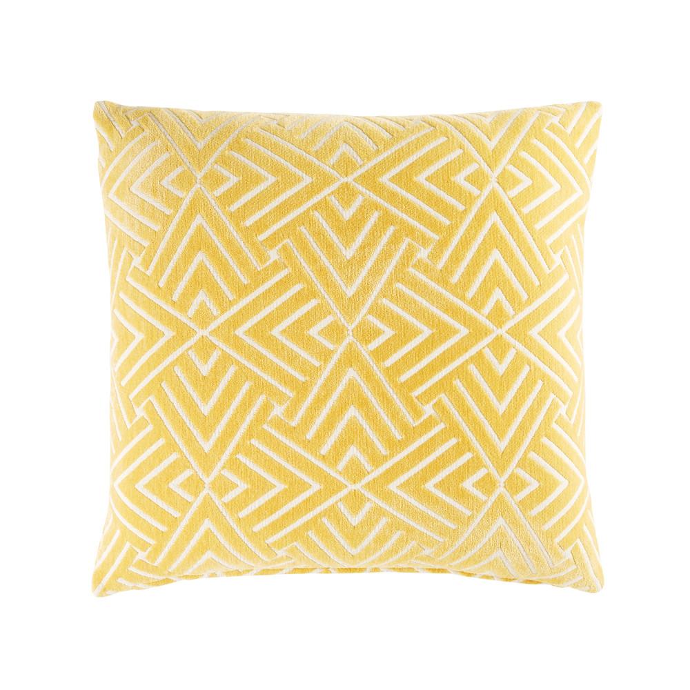 coussin jaune motifs graphiques blancs 45x45 en 2019 j. Black Bedroom Furniture Sets. Home Design Ideas