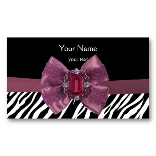 Elegant zebra print business card pink and purple business cards elegant zebra print business card reheart Choice Image