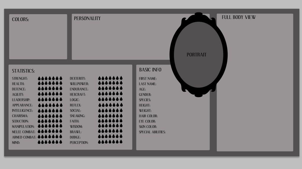 Original Character Sheet Blank Template By Ulvkatt On