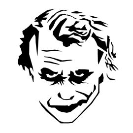 Joker stencil 01 halloween idea 39 s decorations props for Joker mask template