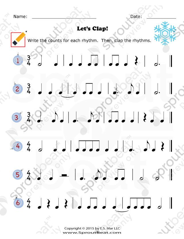 Music Worksheets – Holidays – Rhythm | music | Pinterest | Music ...