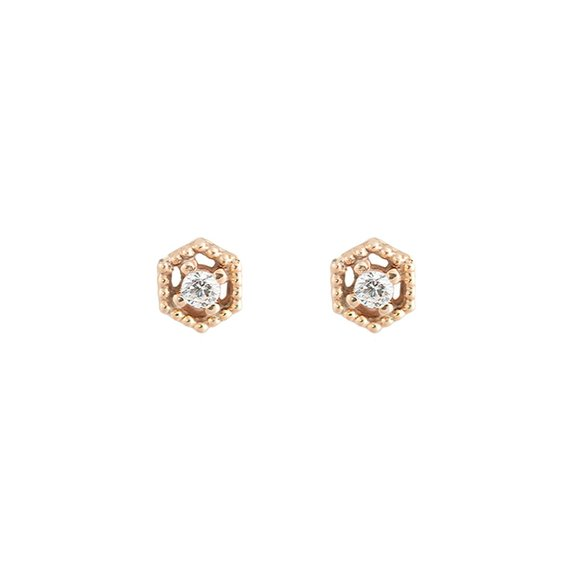 .15ct Round Diamond Cross Stud Earrings 14kt White Rose or Yellow Gold