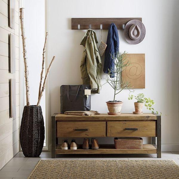 holz regal flur gestalten #Design #dekor #dekoration #design - deko wohnzimmer regal