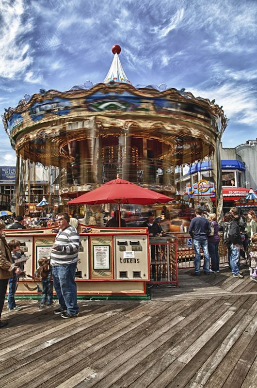 Merry Go Round in San Francisco on Pier 39.