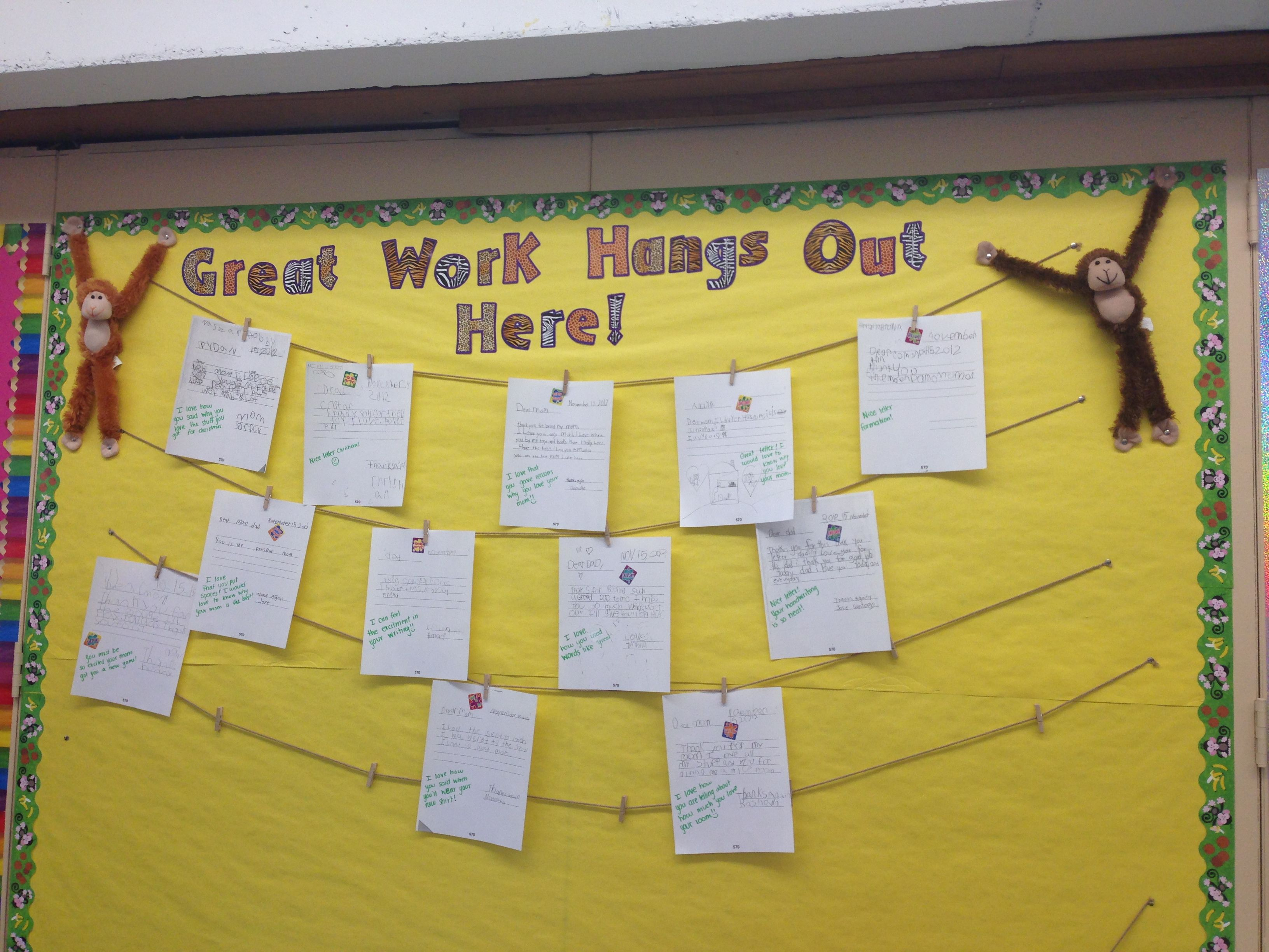 Student work display! | Quinnipiac Elementary School | Pinterest ...