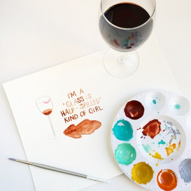 """I finally came around to loving Pantone's 2015 Color of the Year, Marsala. #pantone #wine #drink #drinkup #paint"""