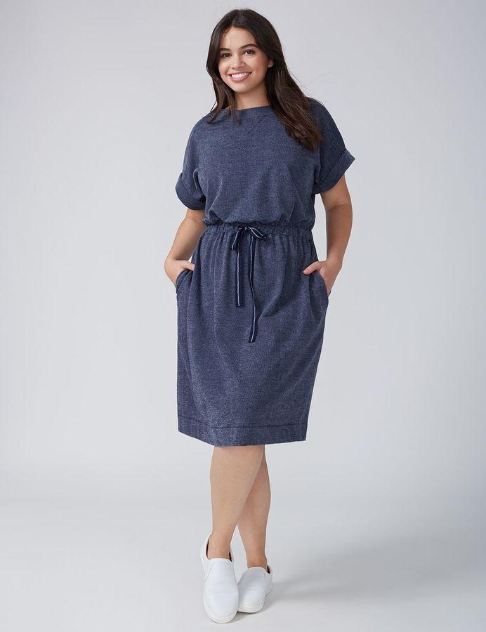 40182ff9f7 Lane Bryant Sweatshirt Dress with Drawstring Waist