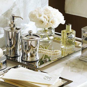 large silver tray no longer available on frontgate mirror vanity traymirror mirrorvanity decormirrorsbathroom - Bathroom Accessories Vanity Tray