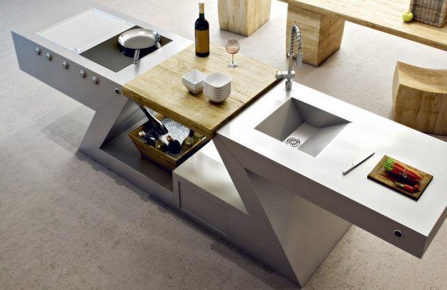 Designer Multifunktionstisch edelstahl-konstruktion-waschbecken - edelstahl outdoor küche