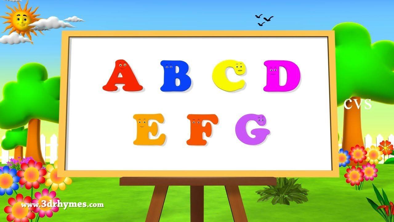 Alphabet Songs Abc Songs For Children 3d Animation Learning Abc Nurs Abc Nursery Rhymes Abc Songs Abc Alphabet Song