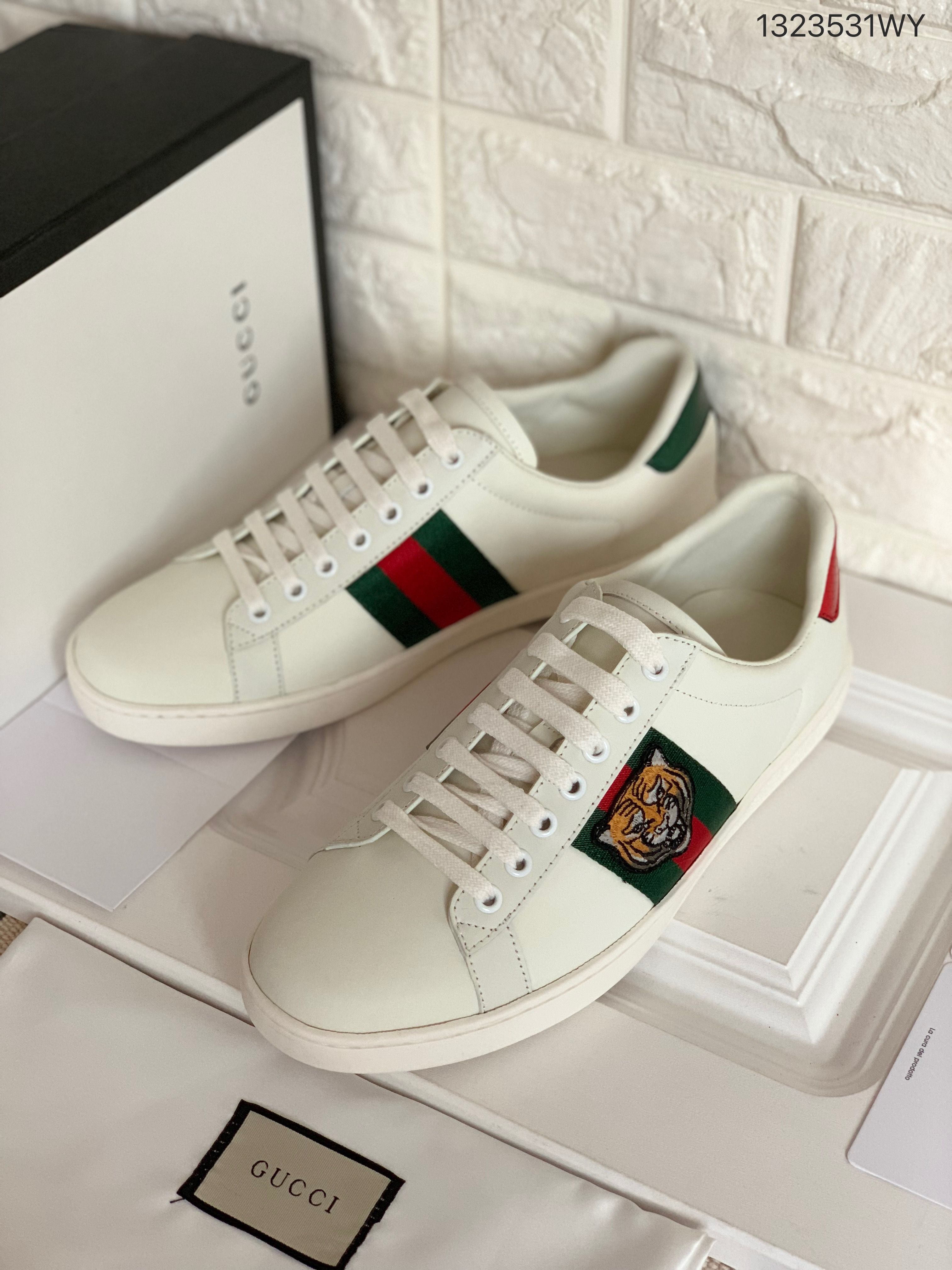 Gucci ace sneakers embroidered tiger