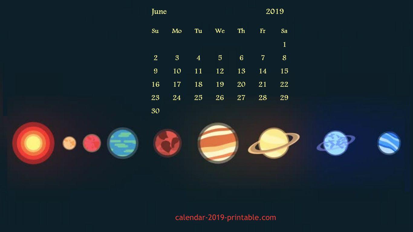 june 2019 calendar desktop wallpaper June 2019 calendar