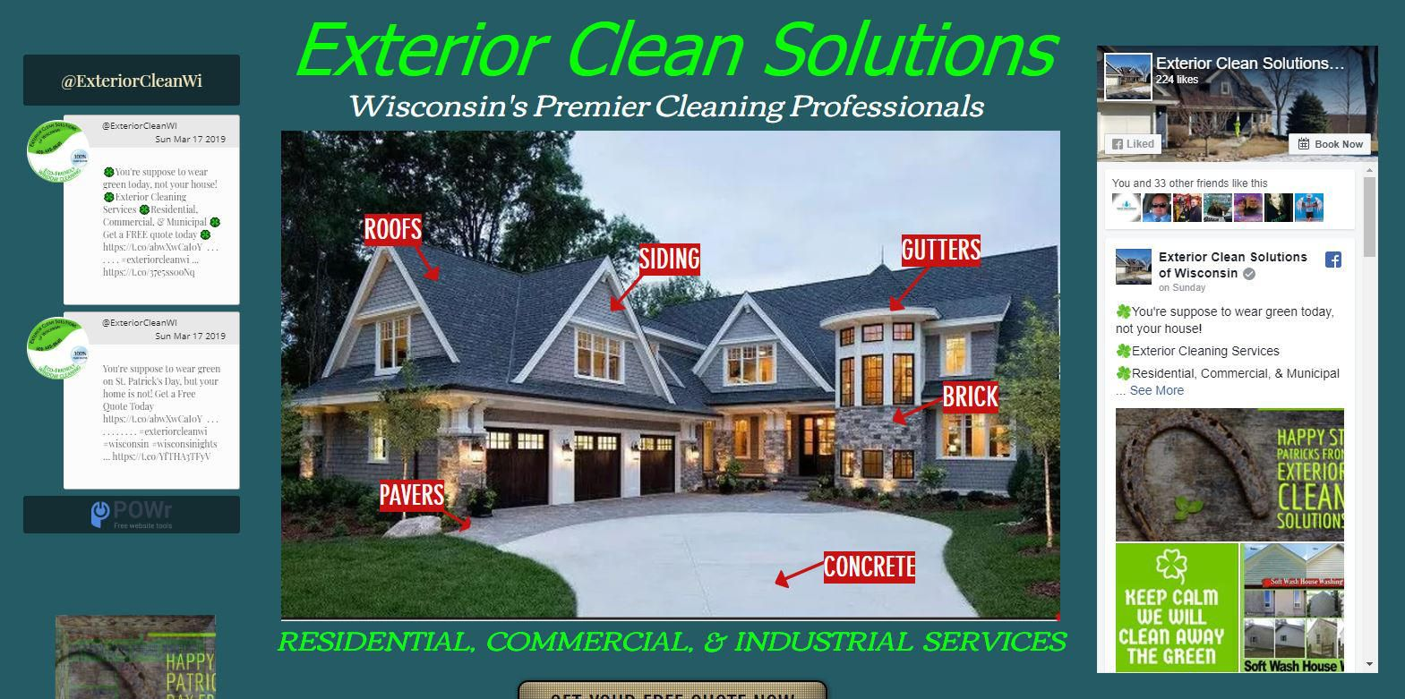 Exterior Clean Solutions Offers A Wide Range Of Exterior Cleaning