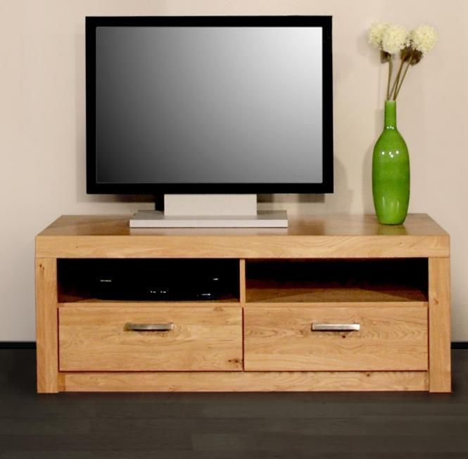 wildeiche teil massiv eiche lowboard tv bank fernsehtisch regal m bel schrank in m bel wohnen. Black Bedroom Furniture Sets. Home Design Ideas