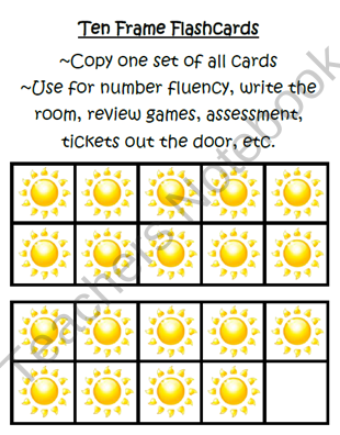 Weather 10 Frame Flashcards ~ Common Core ~ Sun Ten Frame | PreK-2nd ...
