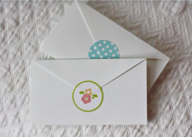 Mini Envelope Cards with Seals... Printable
