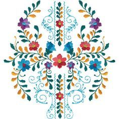 Flores de Mexico,  Embroidery Online http://www.embroideryonline.com/p-48217-flores-de-mexico.aspx