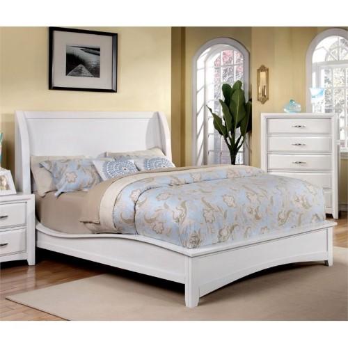 Furniture of America Skye California King Panel Bed in White