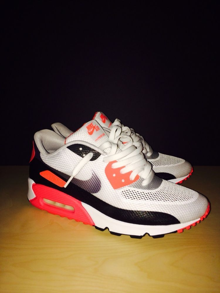 new product 7aeef abeb7 2013 Nike Air Max 90 HYP NRG SZ 11 White Black Infrared Hyperfuse  160