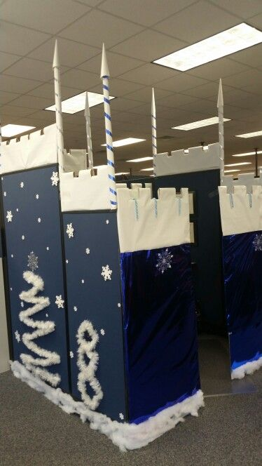 winter cube decorations winter castle cubicle cubicle castles and winter