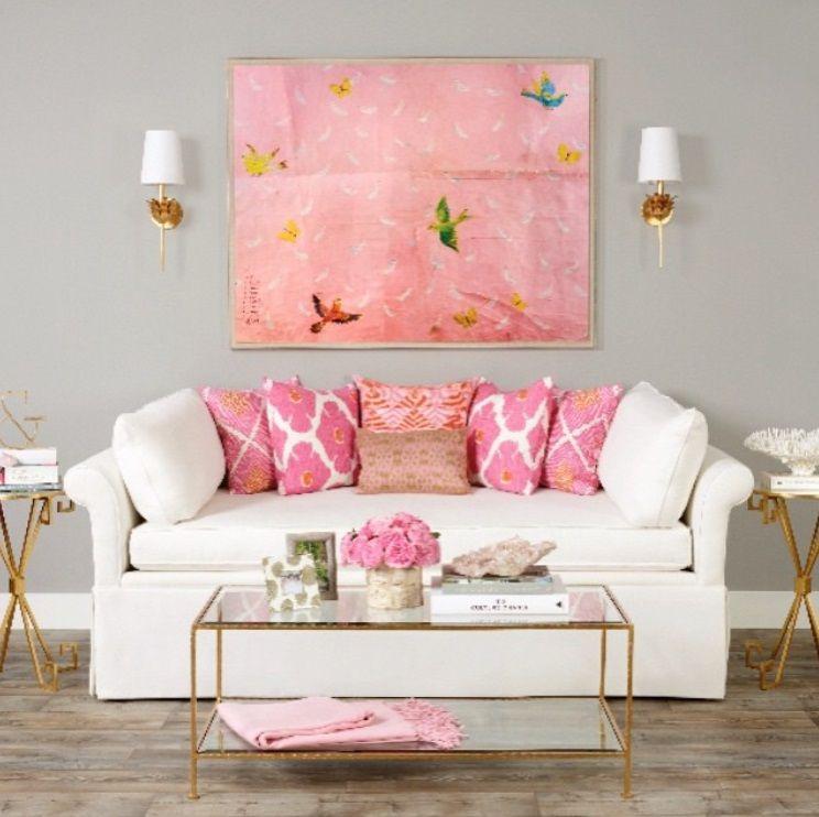 Salón en tonos neutros combinado con rosa | Livingroom | Pinterest ...