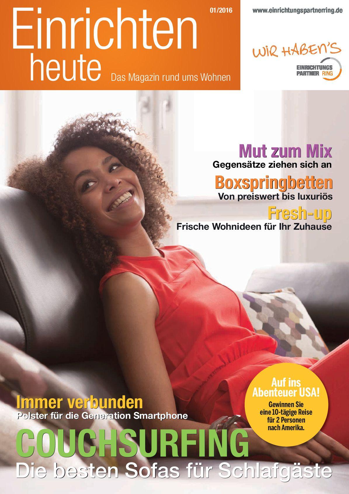 Einrichten Heute Das Magazin Rund Ums Wohnen Ausgabe 012016