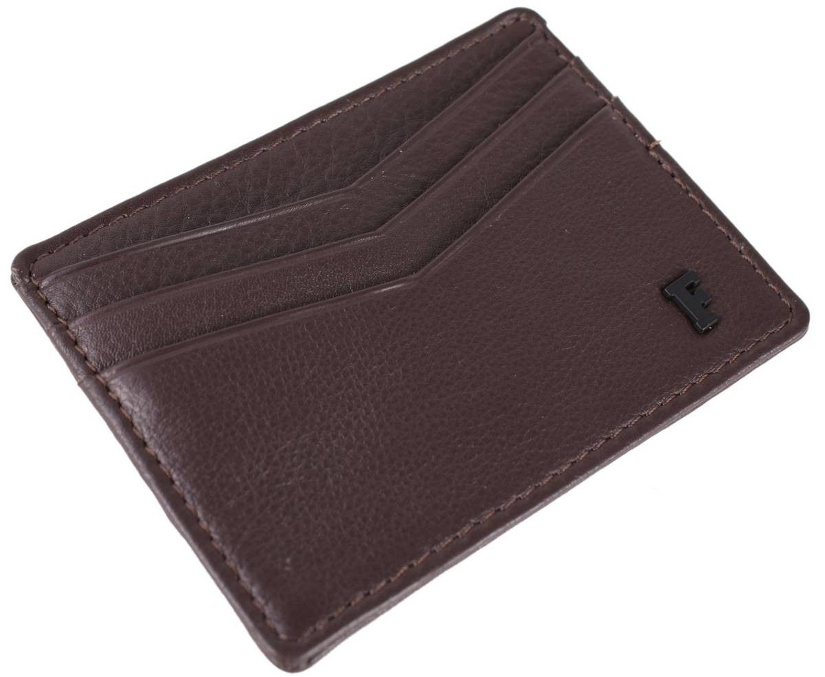 French Connection Lloyd Card Holder - Brown/Grey