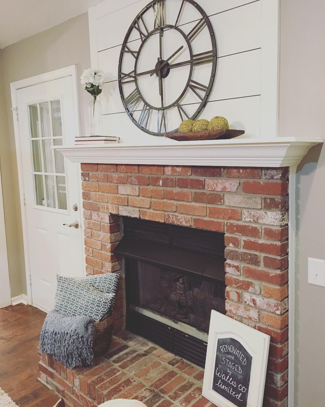 Shiplap Above The Fireplace 3 A Subtle Way To Add Some Character