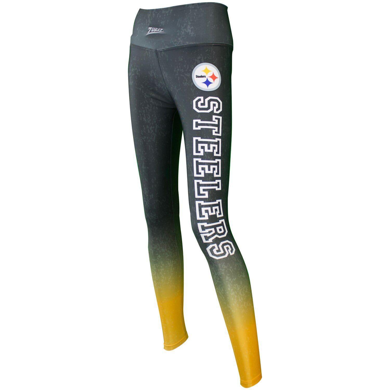 Women S Zubaz Black Pittsburgh Steelers Gradient Leggings Pittsburgh Steelers Buy Leggings Steelers