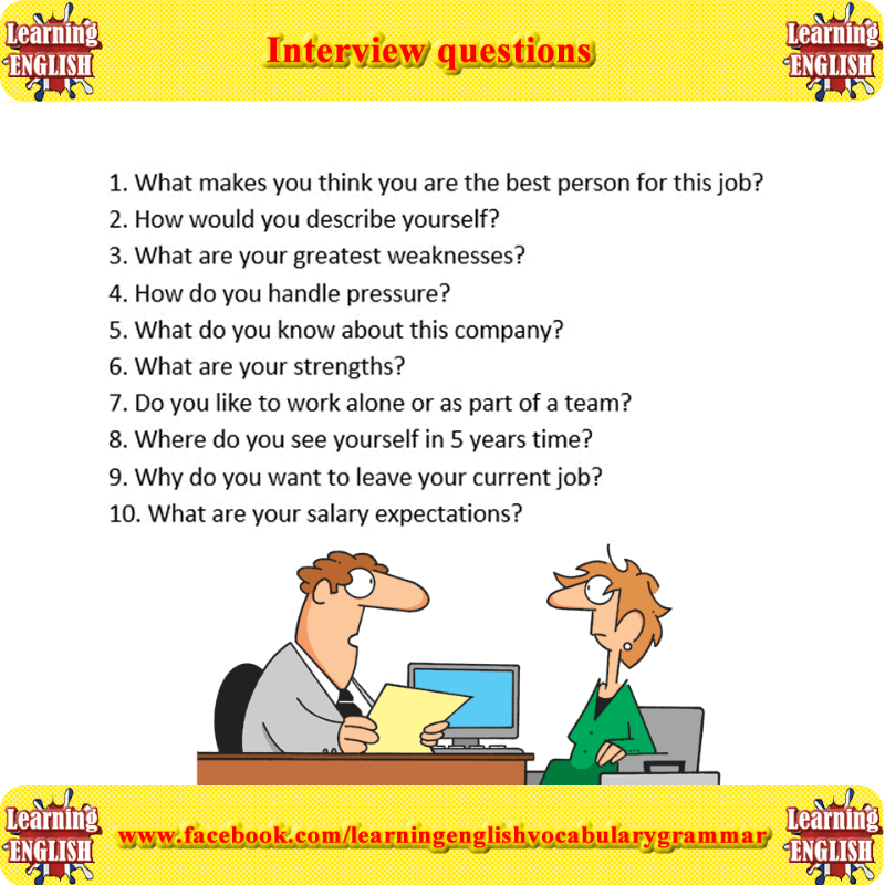 Interview questions | This or that questions, Job interview tips, Learn english