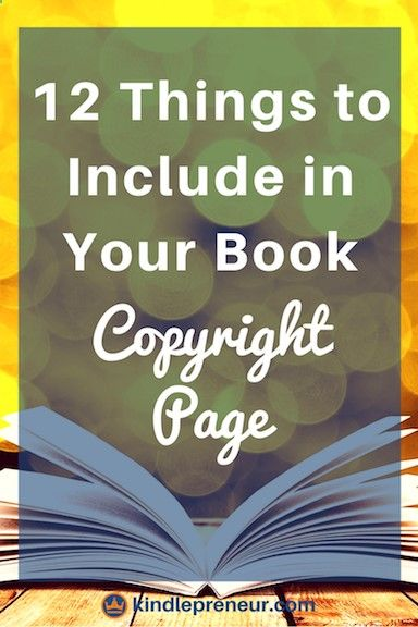 What To Include In Your Book Copyright Page Copyright Page - copyright notice template