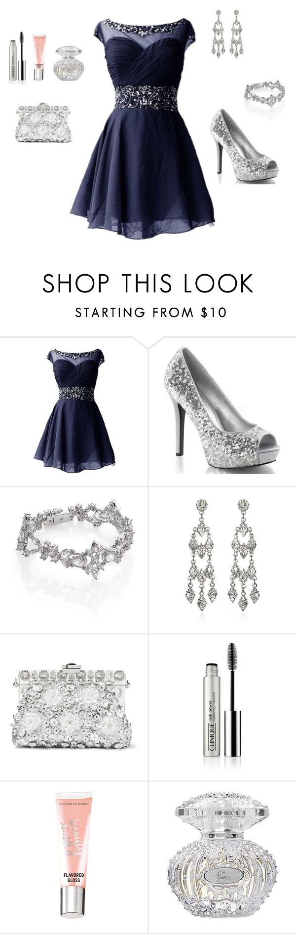 """Stars Can't Shine without Darkness"" by mckynleigh ❤ liked on Polyvore featuring Adriana Orsini, Kenneth Jay Lane, Dolce&Gabbana, Clinique and Beauty Rush"