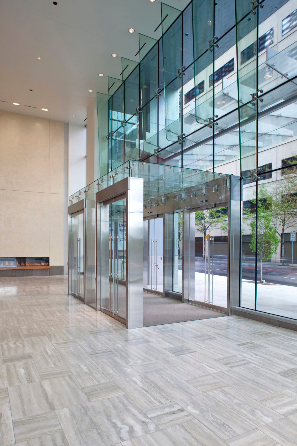 First Main Structural Glass Wall Systems Glass Enclosure