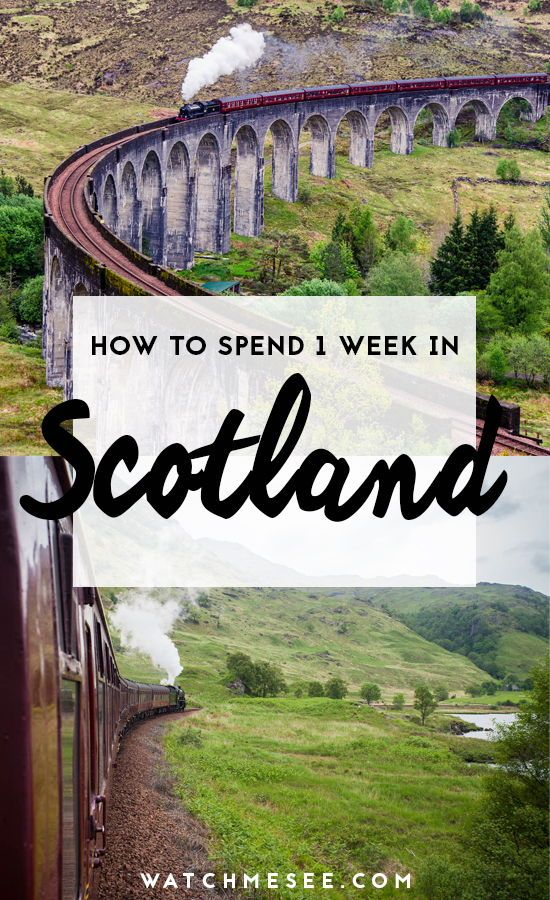 The Best of Scotland in One Week (A complete 7-Day Itinerary) #travelscotland