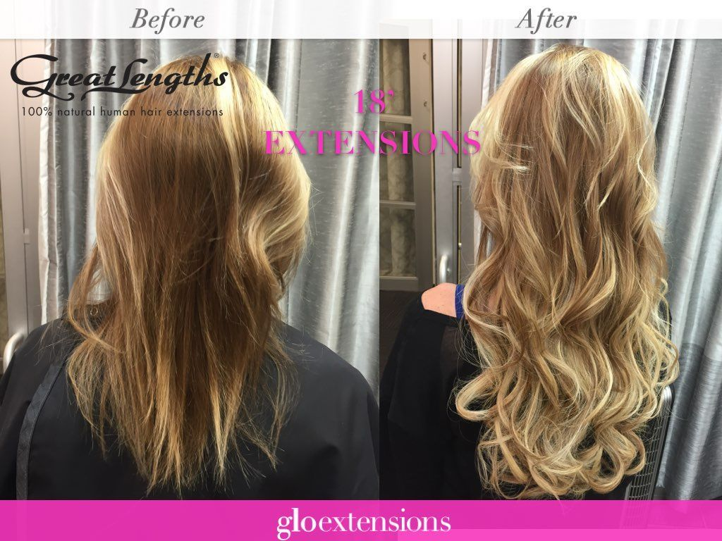 Great Lengths Hair Extensions Before And After By Glo