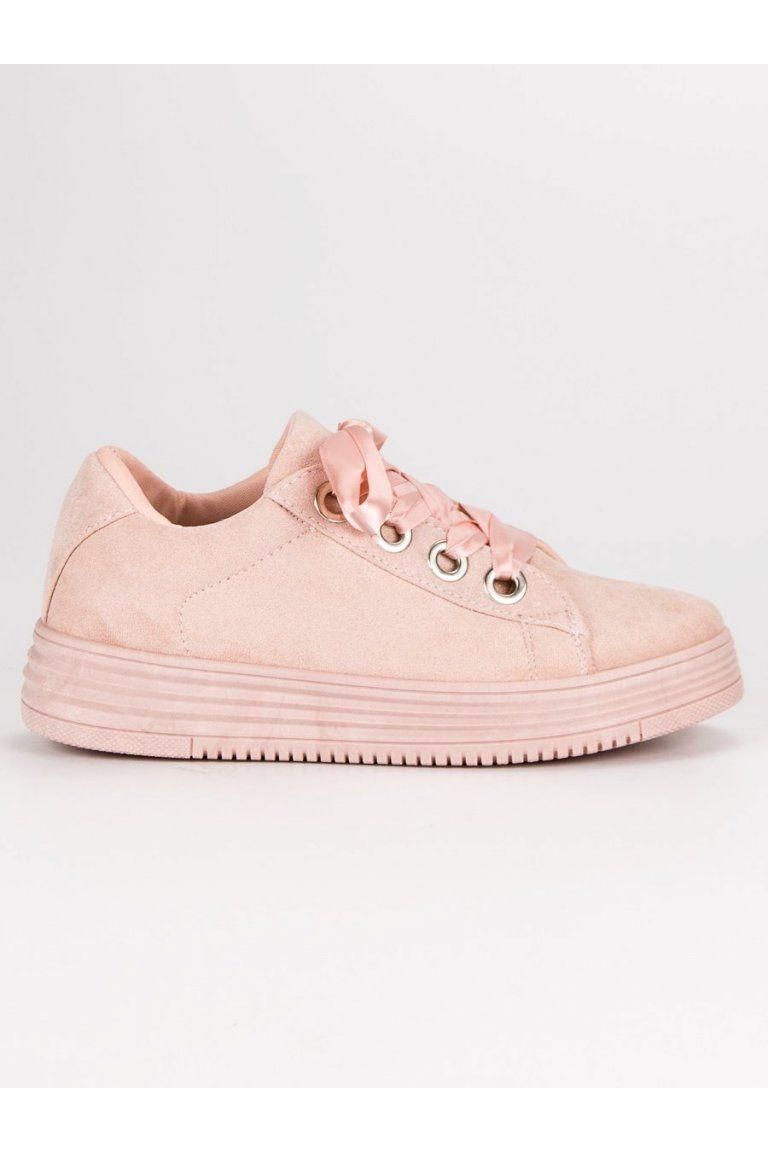 dd988e1da169 Ružové semišové tenisky CnB