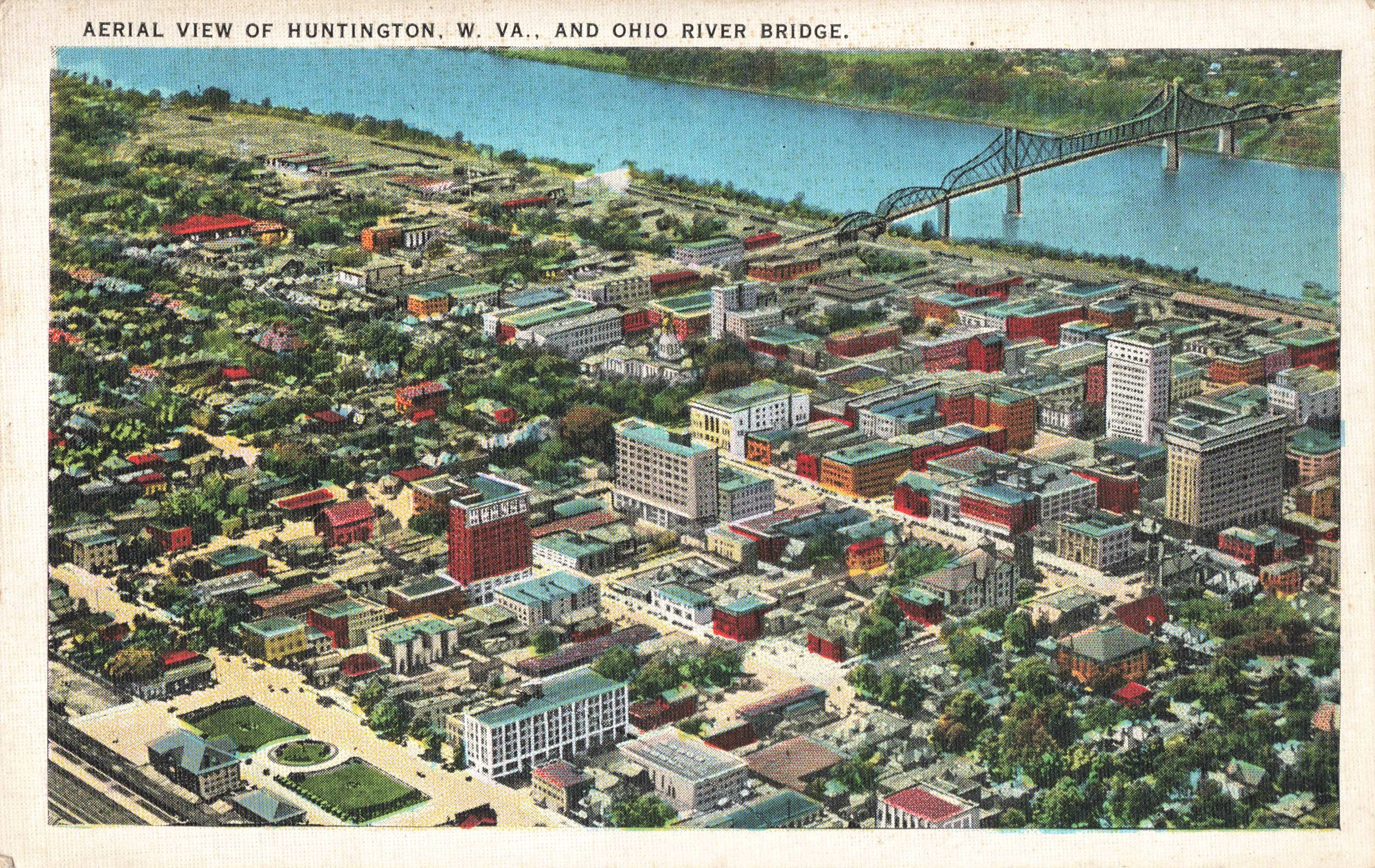 Postcard Aerial View Huntington West Virginia #westvirginia Excited to share this item from my #etsy shop: Postcard Aerial View Huntington West Virginia #westvirginia