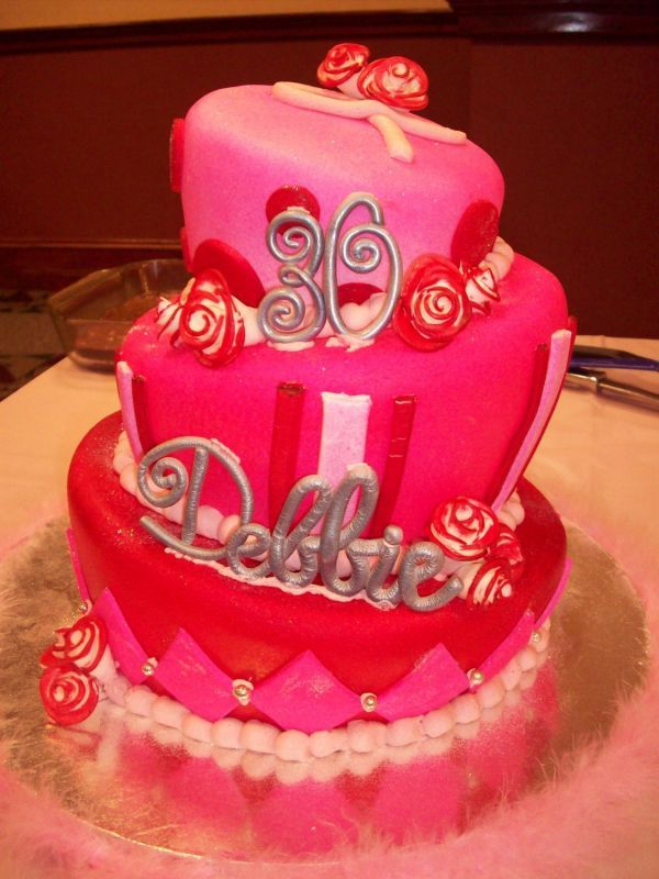 Image Of Th Birthday Cake Ideas For Women  Cakes - 30 year old birthday cake