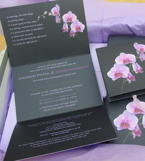 Orchid wedding invitations invitation set invites orchids dishes wedding inspiration simple wedding flowers wedding stuff