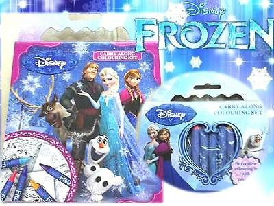 Frozen Colouring Book Set With Crayons Party Bag Filler Wedding Kids Activity In Favours Fillers