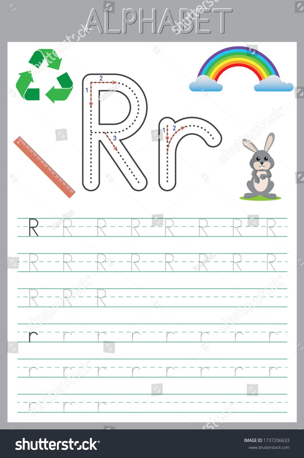 Alphabet Letters Tracing Worksheet Abc Activities And