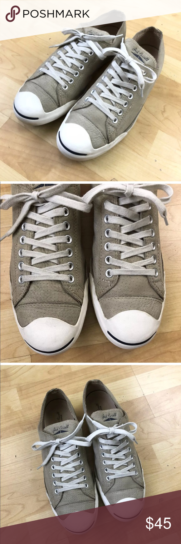 f46f2a4a3a80 Jack Purcell Suede Sneakers Mens Size 13 Jack Purcell Converse Sneakers Gray  Suede Size 13 Men  15 Women Overall good condition