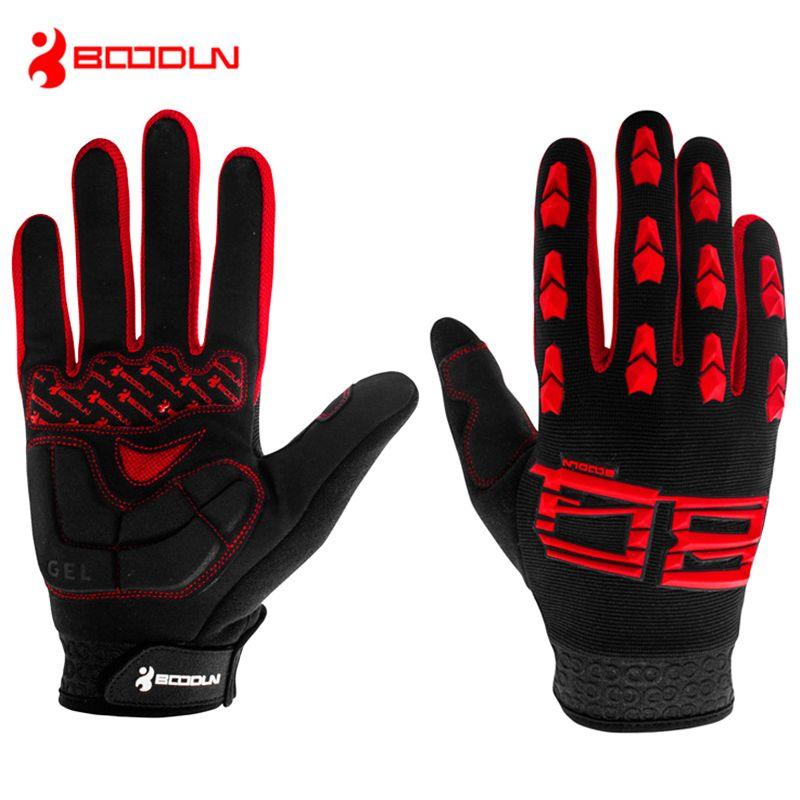 BOODUN Men's Spring Anti-slip Sports Tactical Motor Cycling Bike Gloves For Cyclists Silica Gel Wearable Riding Sportswear