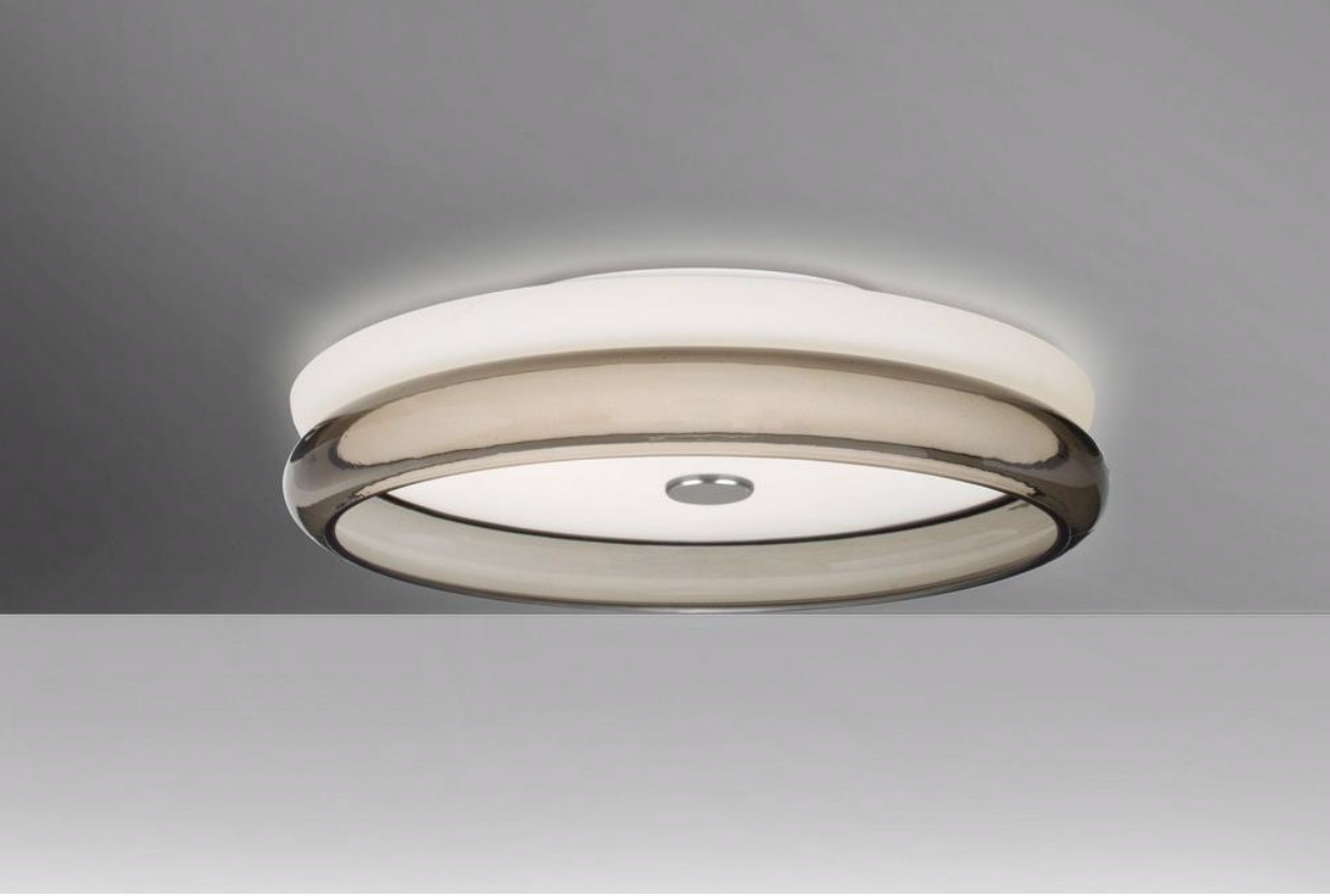 Contemporary Led Flush Mount Light Available In Two Finishes Opal Clear And Opal Smoke Color Temperatu Led Flush Mount Flush Mount Flush Mount Ceiling Lights