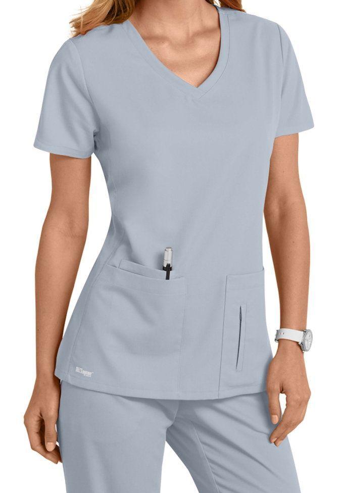Small Moonstruck Greys Anatomy 4 Pocket Crossover V-neck Scrub Tops ...