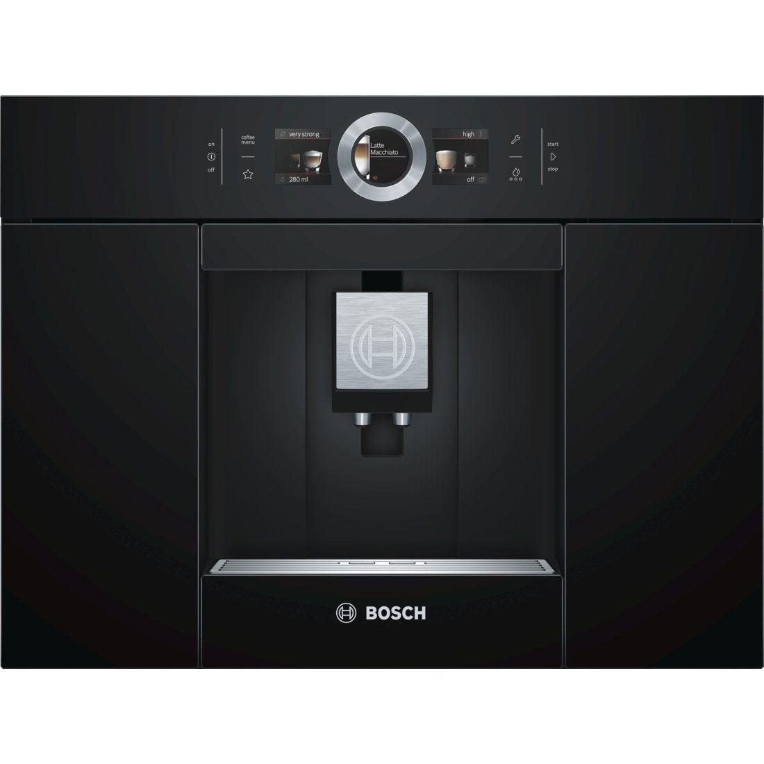 Bosch CTL636EB6 Espresso machine 2,4L Noir (Cafetière Espresso machine intégré entièrement automatique grains De Café Café moulu Café crème doré expresso Latte macchiato Ristretto,) Noir