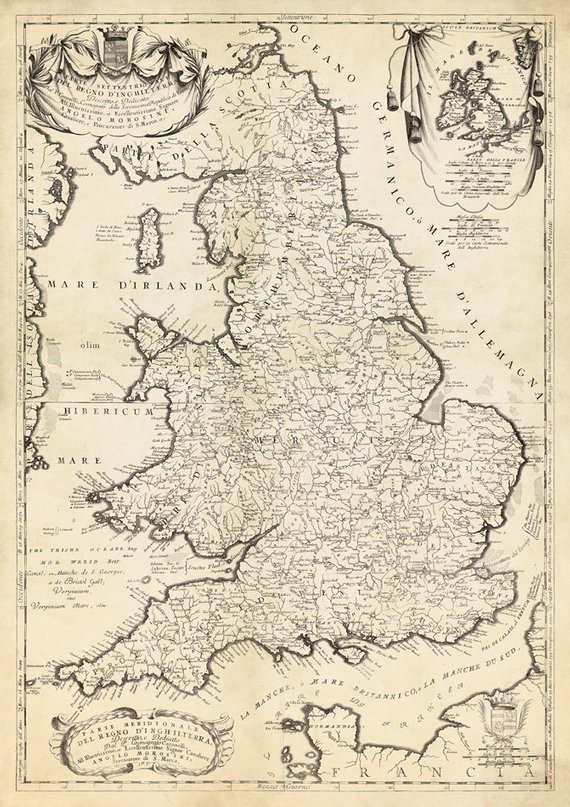 Full Map Of England.England Map Wales Map Historical Map Of England Large Wall Map