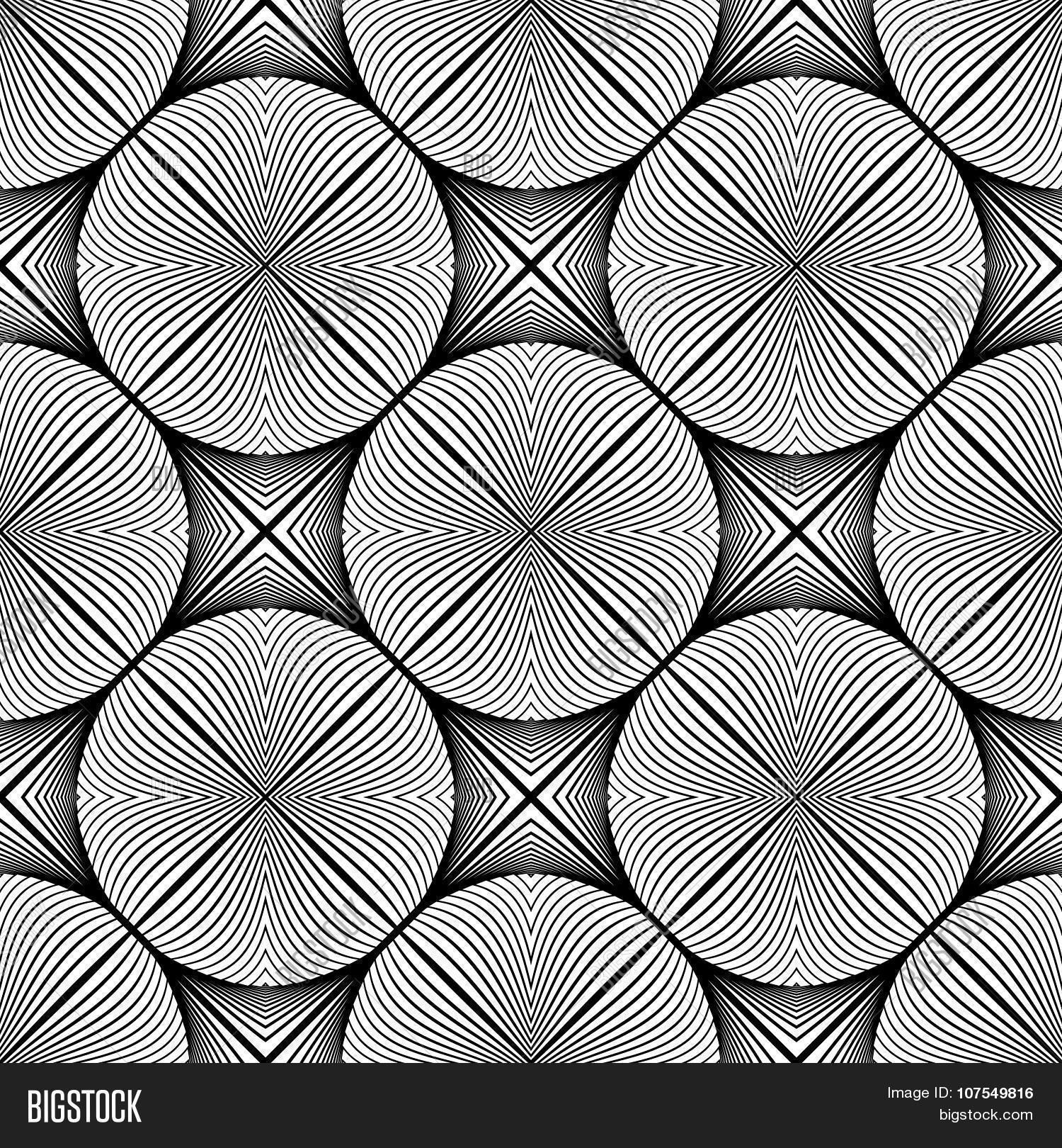 Design seamless monochrome ellipse pattern patterns half third